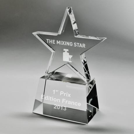 trophée cristal-gravure-laser-étoile