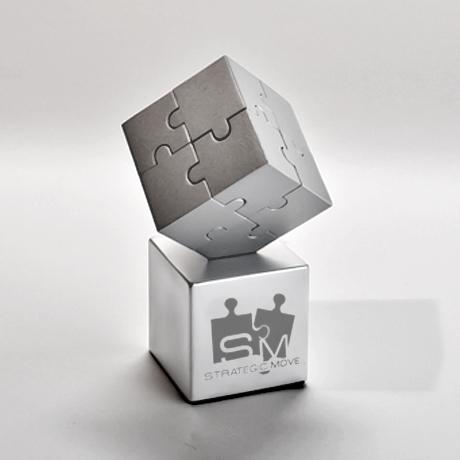 presse papier soleil-puzzle-métal mat-magnétique-laser
