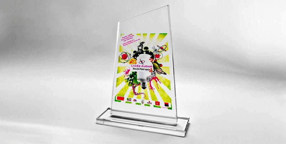 trophee mousson-verre-impression numérique-couleur-rectangulaire asymétrique