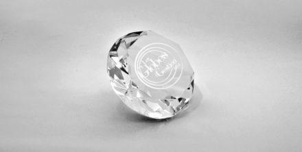 presse papier-diamant-verre-laser-gravure-marquage