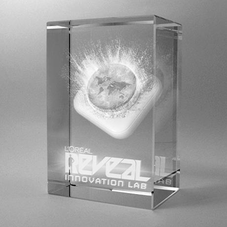 trophée-bloc-verre optique-laser-insertion