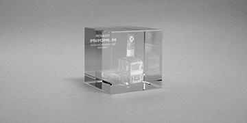 presse apier-bloc-verre optique-laser-marquage-cube