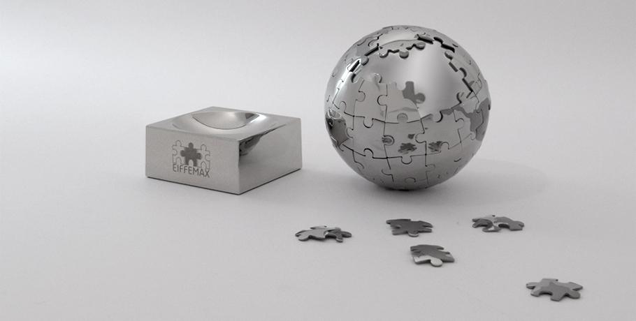 presse-papier-metal-avior-puzzle-planisphère