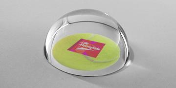 presse-papiers-bulle-loupe-rond-verre-marquage impression numérique-oval