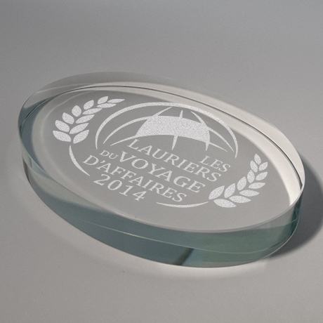 presse papier-verre-marquage laser-ovale