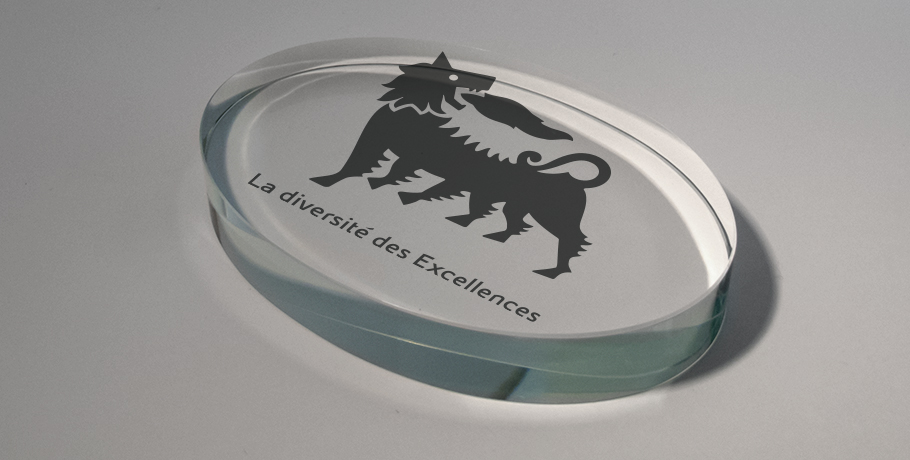 presse papier-verre-marquage en impression numérique-ovale