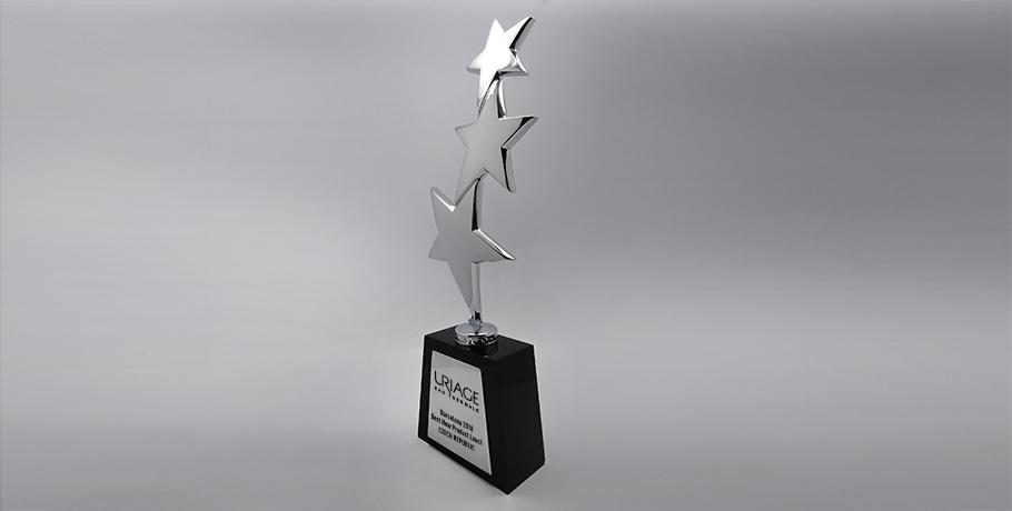 Trophée-verre-marquage-impression numérique-étiquette